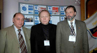 Chairman of Non-governmental Council for National Security of Russia A.Ognivcev (pictured in the Centre).